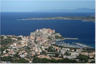 Poster Ville de Calvi, Balagne, Corse, Corse