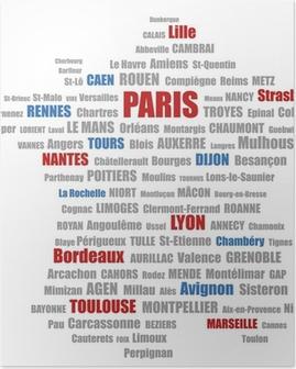 Poster Villes de France 1