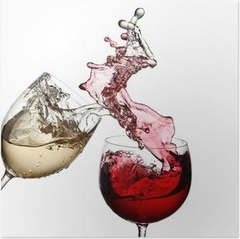 Poster Vin rouge et blanc tous ensemble