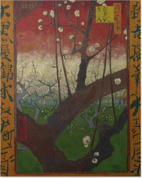 Póster Vincent van Gogh - Árbol de ciruelo floreciente - Reproductions
