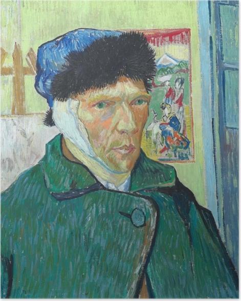 Poster Vincent van Gogh - Autoportrait à l'oreille bandée - Reproductions