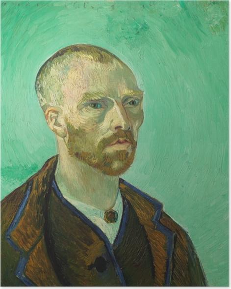 Poster Vincent van Gogh - Autoportrait dédié à Paul Gauguin - Reproductions