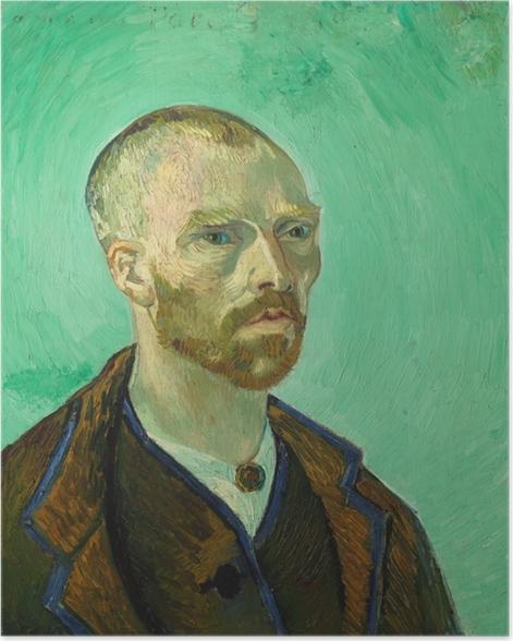Póster Vincent van Gogh - Autorretrato dedicado a Paul Gauguin - Reproductions
