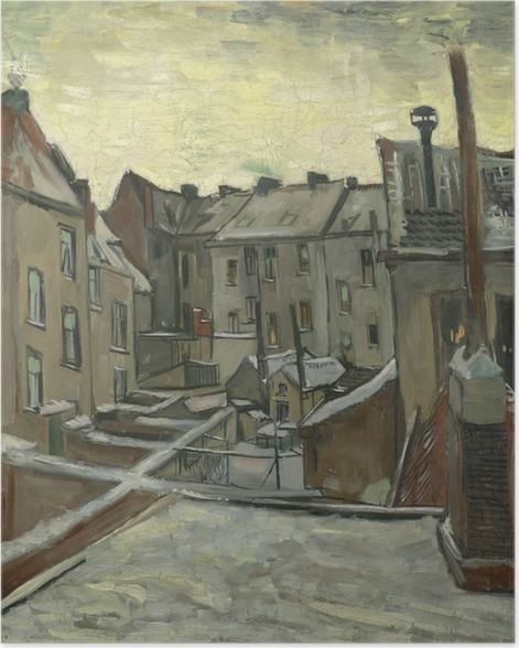 04da015c281dab Vincent van Gogh - Backyards of Old Houses in Antwerp Poster ...