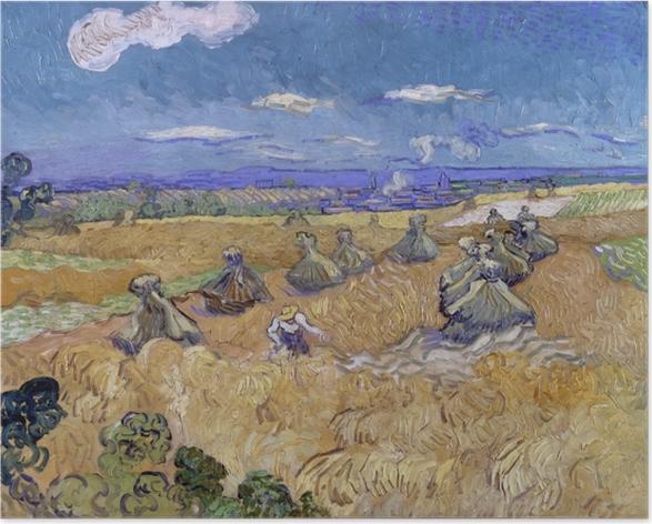Póster Vincent van Gogh - Campo de trigo con Reaper - Reproductions