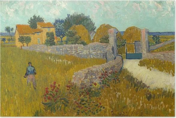 Poster Vincent van Gogh - Champ de blé - Reproductions