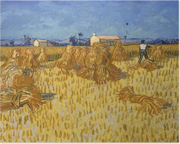 Póster Vincent van Gogh - Cosecha en Provence - Reproductions