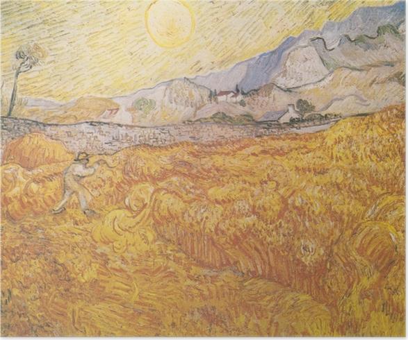 Poster Vincent van Gogh - De oogst - Reproductions