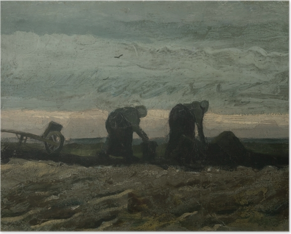 Poster Vincent van Gogh - Deux Paysannes ramassant la tourbe - Reproductions