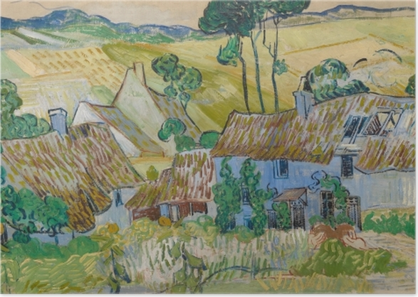 Vincent van Gogh - Farms near Auvers Poster - Reproductions