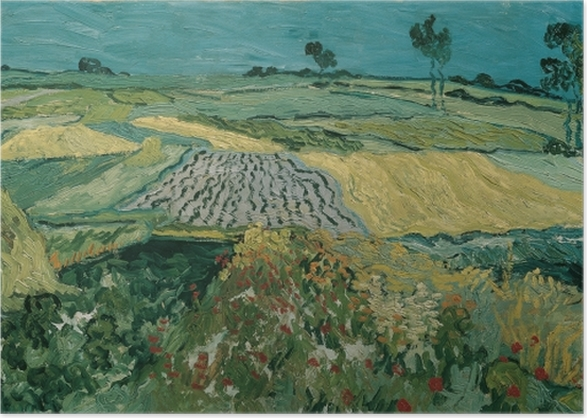 Vincent van Gogh - Fields in Auvers Poster - Reproductions