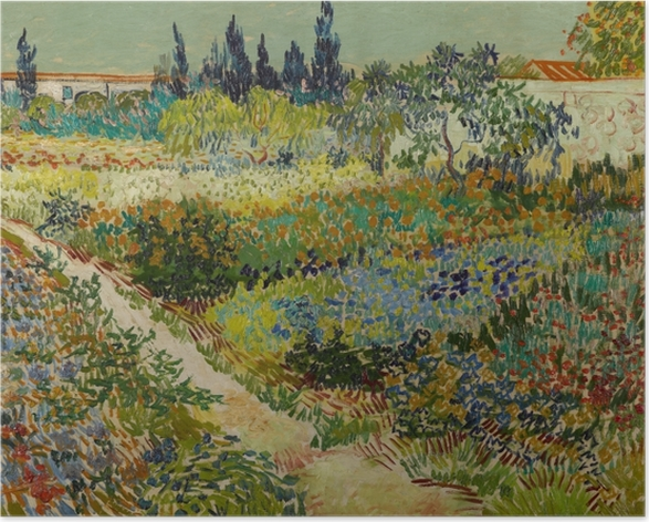 Vincent van Gogh - Flowering Garden with Path Poster - Reproductions