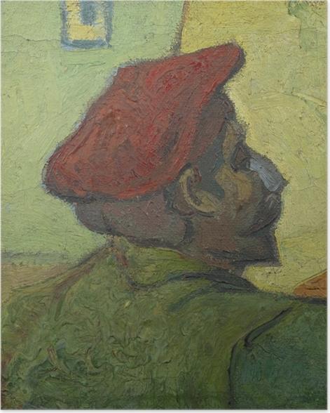 Poster Vincent van Gogh - Homme au béret rouge - Reproductions