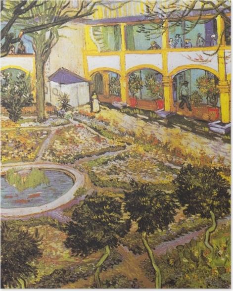 Poster Vincent van Gogh - Jardin de l'hôpital à Arles - Reproductions