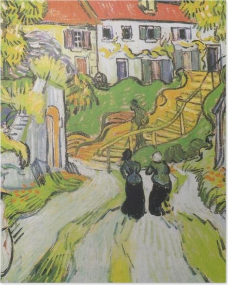 Poster Vincent van Gogh - L'escalier d'Auvers - Reproductions