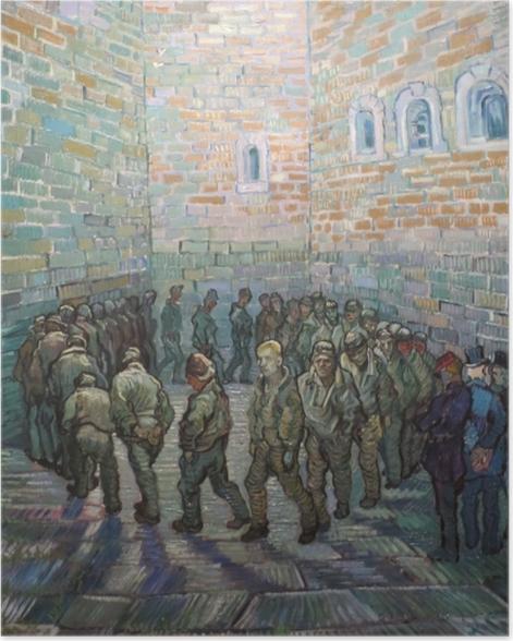 Poster Vincent van Gogh - L'exercice des prisonniers - Reproductions