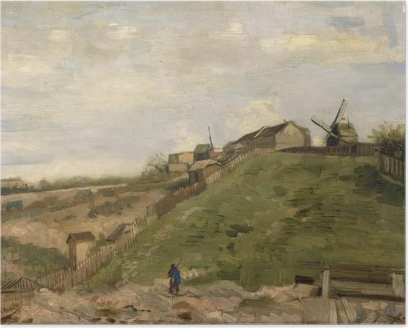 Poster Vincent van Gogh - La Colline de Montmartre avec une carrière de pierres - Reproductions