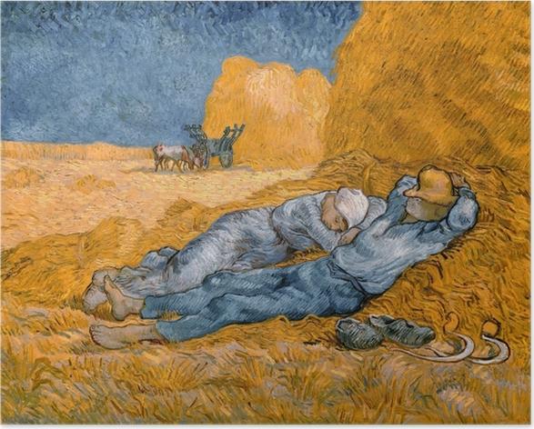 Poster Vincent van Gogh - La méridienne ou La sieste - Reproductions