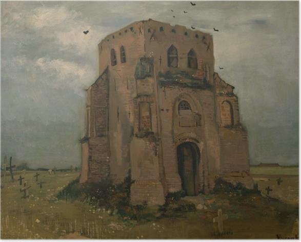 Poster Vincent van Gogh - La vieille église Tour à Nuenen - Reproductions