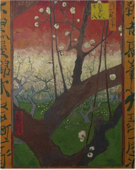 Poster Vincent van Gogh - Le Prunier en Fleurs - Reproductions