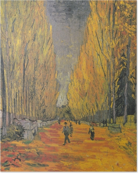 Poster Vincent van Gogh - Les Alyscamps - Reproductions