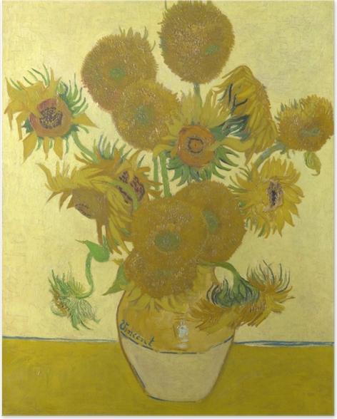 Poster Vincent van Gogh - Les Tournesols - Reproductions