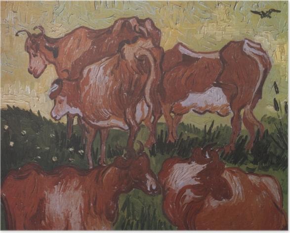 Poster Vincent van Gogh - Les vaches - Reproductions