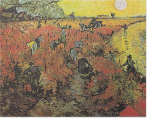 Poster Vincent van Gogh - Les vignes rouges d'Arles - Reproductions