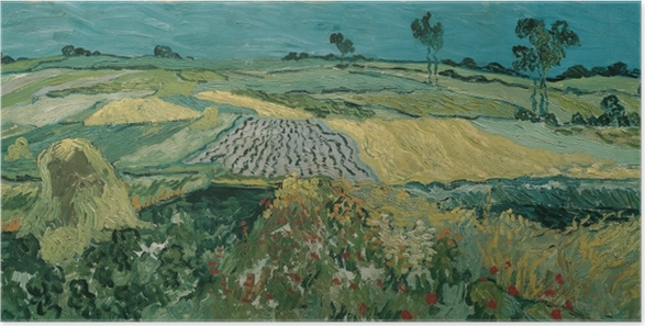 Póster Vincent van Gogh - Los campos en Auvers - Reproductions
