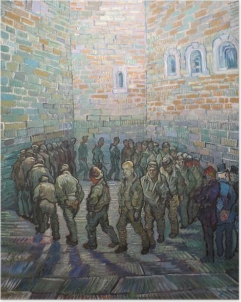 Póster Vincent van Gogh - Los presos en el patio - Reproductions