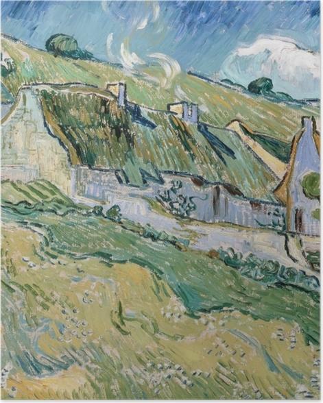 Poster Vincent van Gogh - Maisons à Auvers-sur-Oise - Reproductions