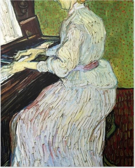 Poster Vincent van Gogh - Marguerite Gachet au piano - Reproductions
