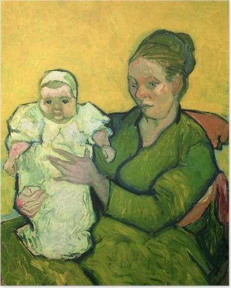 Poster Vincent van Gogh - Mme Roulin avec son enfant Marcelle - Reproductions