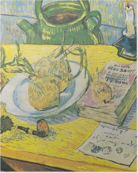 Poster Vincent van Gogh - Nature morte avec une bouilloire, un tuyau et d'oignons - Reproductions