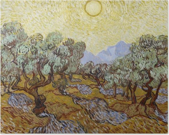 Poster Vincent van Gogh - Oliveraie - Reproductions