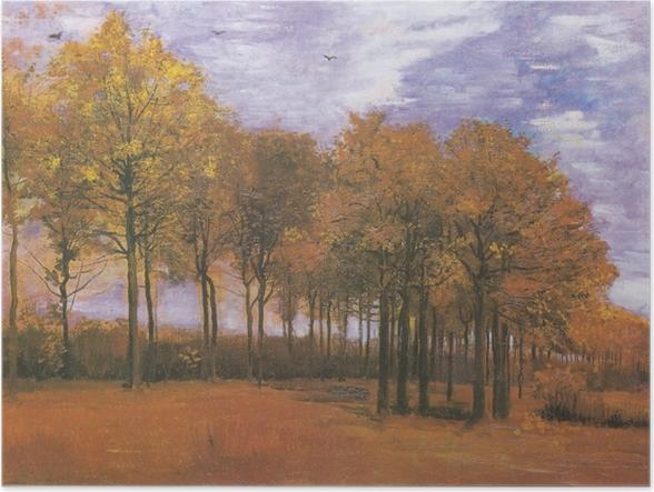 Póster Vincent van Gogh - Paisaje de otoño - Reproductions