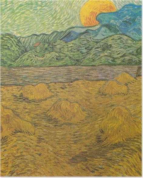 Poster Vincent van Gogh - Paysage de Soirée avec Lune Montante - Reproductions