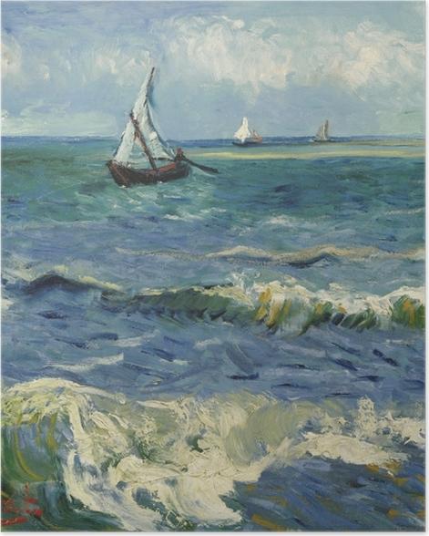 Poster Vincent van Gogh - Paysage marin à Saintes-Maries - Reproductions