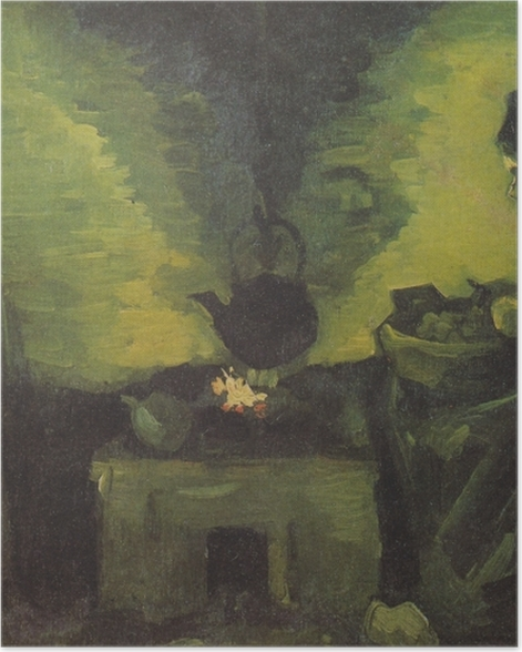 Poster Vincent van Gogh - Paysanne près de l'âtre - Reproductions