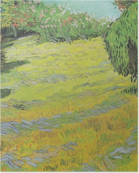 Poster Vincent van Gogh - Pelouse ensoleillée dans un parc public - Reproductions