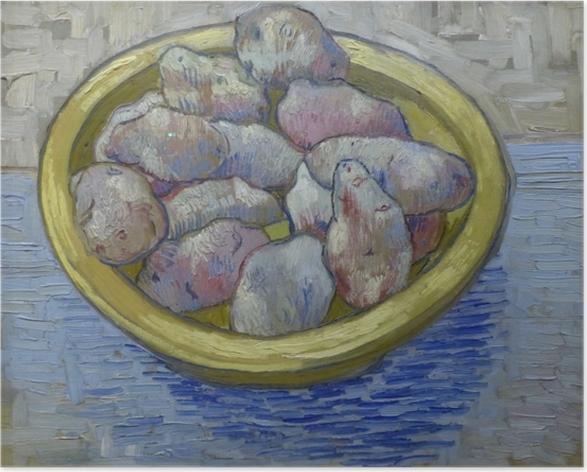 Poster Vincent van Gogh - Pommes de terre dans un plat jaune - Reproductions