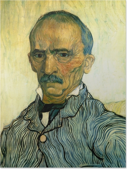 Poster Vincent van Gogh - Portrait de Monsieur Trabuc, intendant de l'hôpital Saint-Paul - Reproductions
