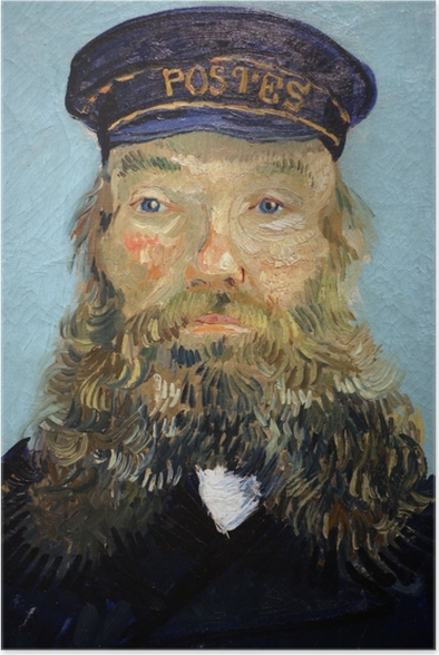 Vincent van Gogh - Portrait of the Postman Joseph Roulin Poster - Reproductions