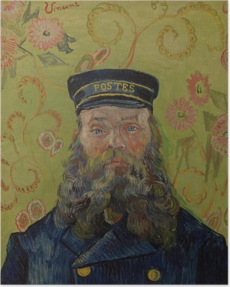 Poster Vincent van Gogh - Portret van postbode Joseph Roulin - Reproductions