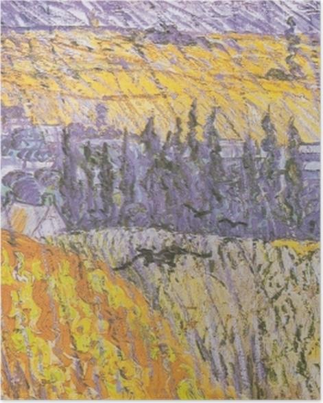 Poster Vincent van Gogh - Rain-Auvers - Reproductions