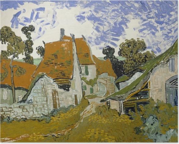 Poster Vincent van Gogh - Rue d'Auvers - Reproductions