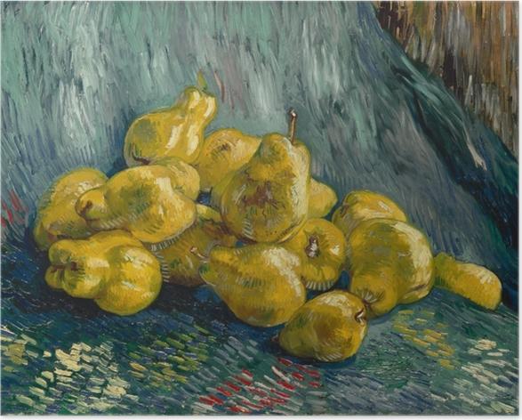 Poster Vincent van Gogh - Stilleben med kvitten - Reproductions
