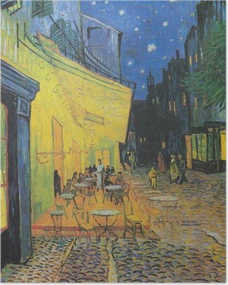 Vincent van Gogh - The Cafe Terrace on the Place du Forum, Arles, at Night Poster - Reproductions