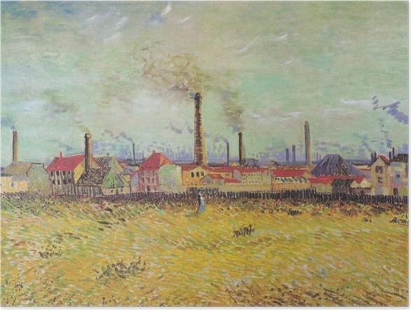 Poster Vincent van Gogh - Usines à Asnières - Reproductions