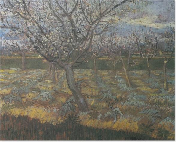 Poster Vincent van Gogh - Verger avec des arbres d'abricot en fleurs - Reproductions